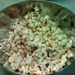Home-made wok-popped popcorn