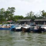 Bum-boat rides to Pulau Ubin